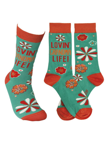 Primitives by Kathy Women's LOL Socks, Lovin' Grandma Life!