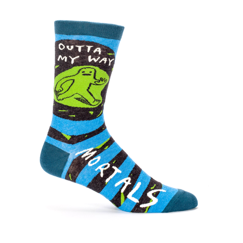 Blue Q Men's Socks, Outta My Way Mortals