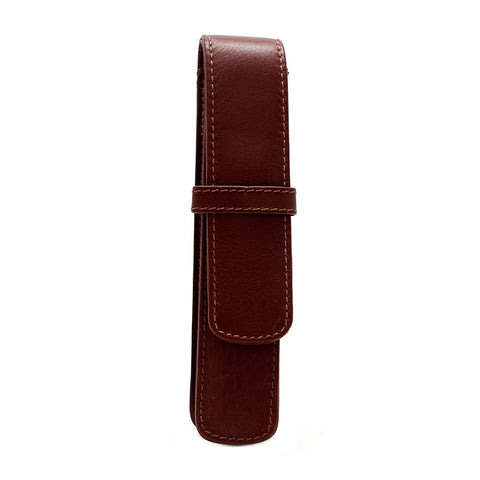 Girologio Soft Leather 1 Pen Case Brown
