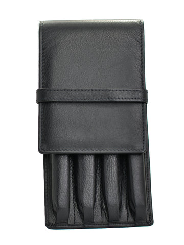 Girologio Soft Leather 4 Pen Case Black