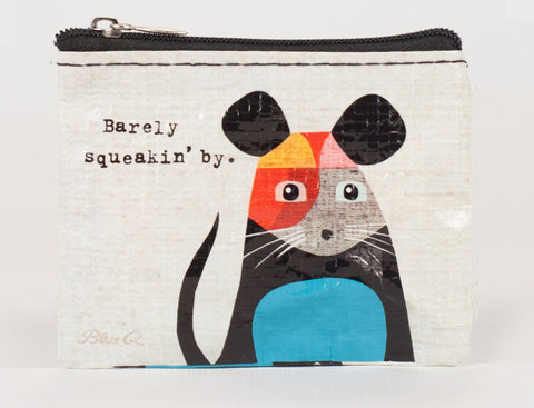 "Blue Q ""Barely Squeakin By"" Coin Purse"