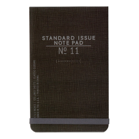 DesignWorks Standard Issue Note Pad No 11 - Black