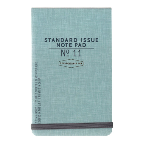 DesignWorks Standard Issue Note Pad No 11 - Blue