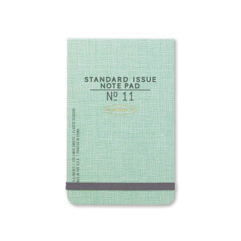 DesignWorks Standard Issue Note Pad No 11 - Green