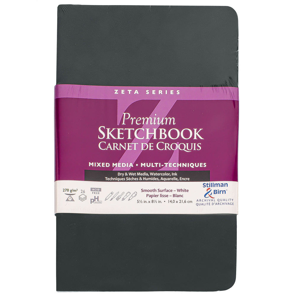 Stillman & Birn Zeta Softcover Sketchbook 5.5x8.5- Portrait Orientation