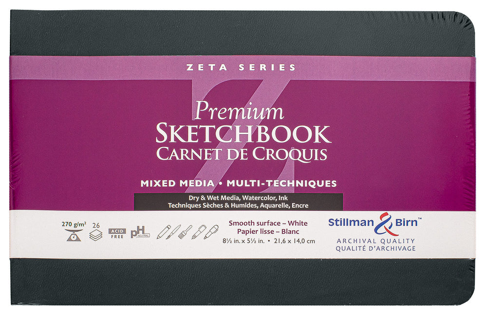 Stillman & Birn Zeta Softcover Sketchbook 5.5x8.5- Landscape Orientation