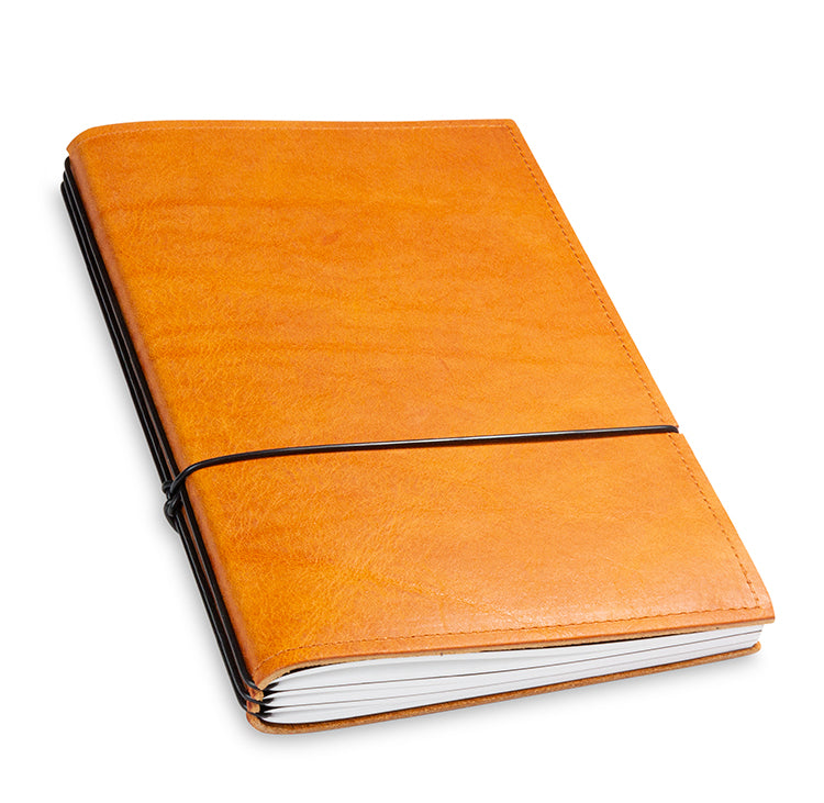 X17 SuperBuch A5 Refillable Leather Notebook- Cognac