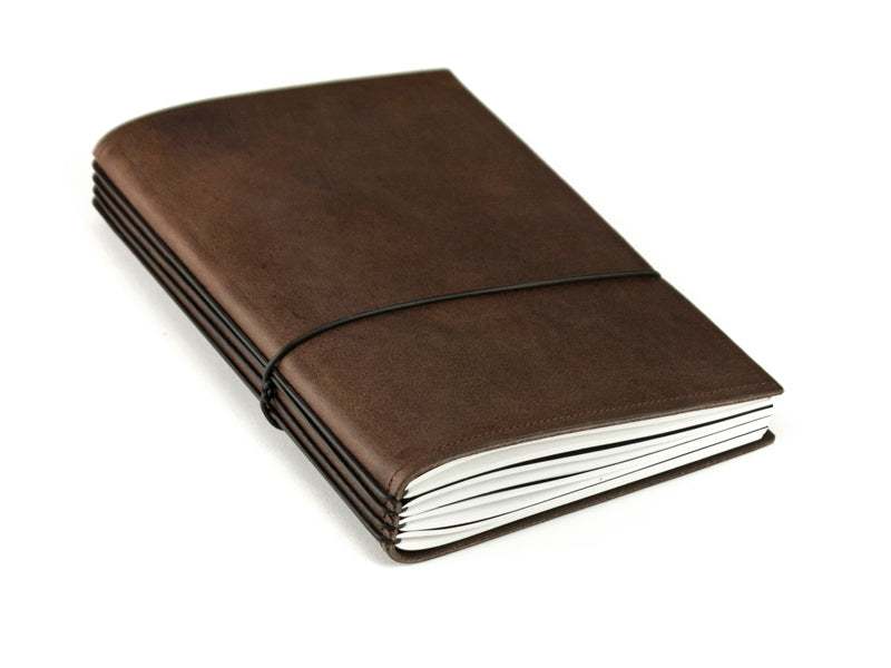 X17 SuperBuch A5 Refillable Leather Notebook- Chestnut