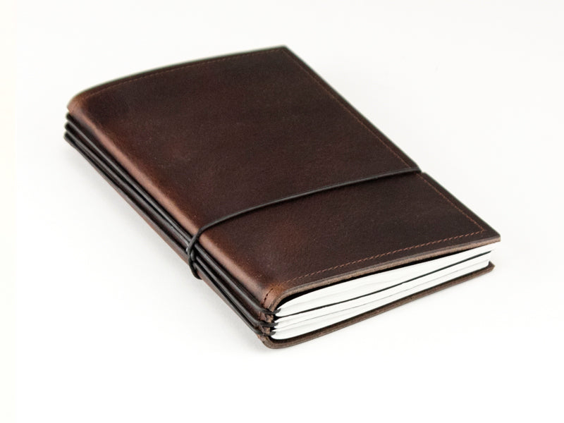 X17 SuperBuch A6 Refillable Leather Notebook- Chestnut