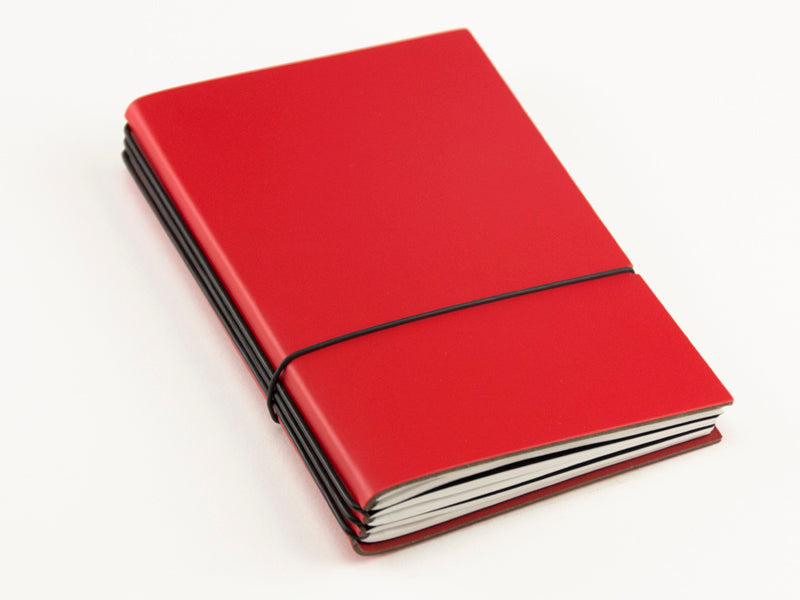 X17 SuperBuch A6 Refillable Notebook- Red