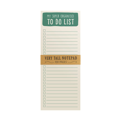 Eccolo My Super Organized To Do List Very Tall Notepad