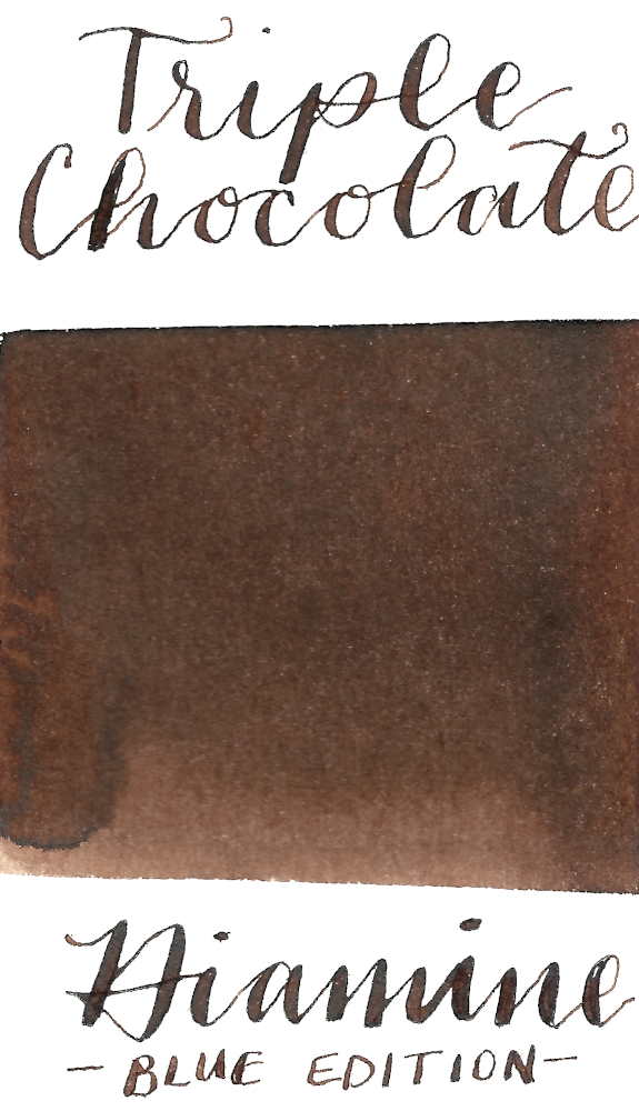 Diamine Blue Edition Triple Chocolate is a delectable brown fountain pen ink.