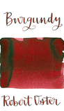 Robert Oster Burgundy is a medium burgundy red fountain pen ink with low shading.