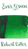 Robert Oster Ever Green is a bright medium green fountain pen ink with medium shading.