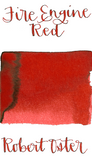 Robert Oster Fire Engine Red is a vibrant medium red fountain pen ink with medium shading.