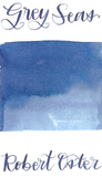 Robert Oster Grey Seas from the 1980's collection is a dusky blue grey fountain pen ink with high shading.