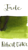 Robert Oster Jade is a medium earthy green fountain pen ink with medium shading.
