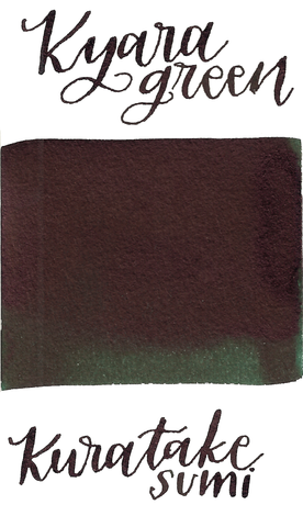 Kuretake Kyara Dark Green ink scented