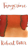 Robert Oster Tangerine is an desaturated red orange fountain pen ink with low shading.