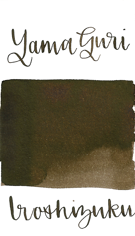 Pilot Iroshizuku Yama-Guri, aka Wild Chestnut, is a dark brown fountain pen ink.