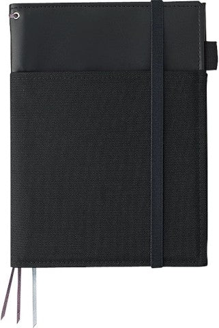 Kokuyo Systemic Refillable A5 Notebook Cover- Black Faux Leather