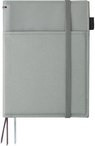 Kokuyo Systemic Refillable A5 Notebook Cover- Grey Faux Leather