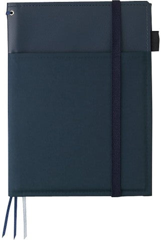 Kokuyo Systemic Refillable A5 Notebook Cover- Navy Faux Leather