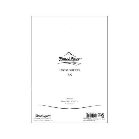 Tomoe River White A5 Loose Leaf 100 Sheets