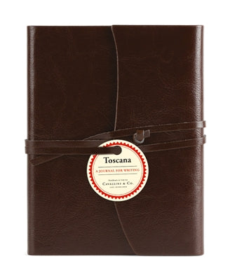 "Cavallini & Co. Brown Toscana Journal 5"" x 6.5"""
