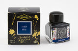 Diamine Tudor Blue fountain pen ink is available in a triangular shaped 40ml bottle.