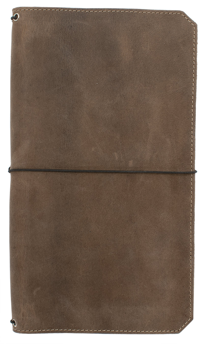 "Franklin Christoph ""VN"" - Vagabond Leather Notebook Cover - Boot Brown"