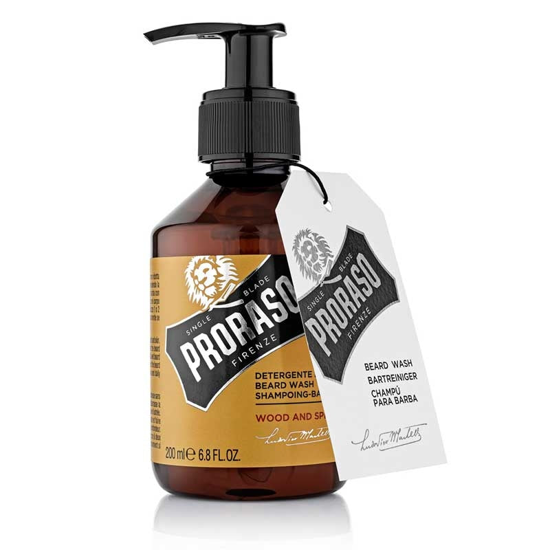 Proraso Single Blade Beard Wash- Wood & Spice