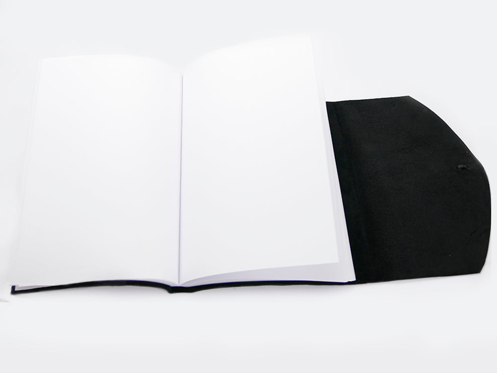 Curnow Bookbinding Wrap-Around Black Leather Journal