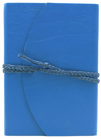 Curnow Bookbinding Wrap-around Blue Leather Journal