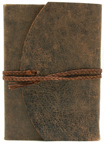 Curnow Bookbinding Wrap-around Brown Leather Journal