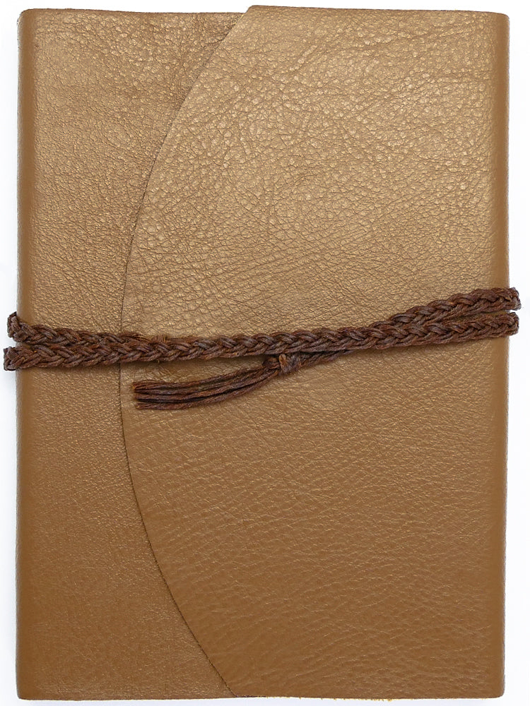 Curnow Bookbinding Wrap-around Tan Leather Journal
