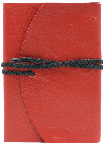 Curnow Bookbinding Wrap-around Red Leather Journal