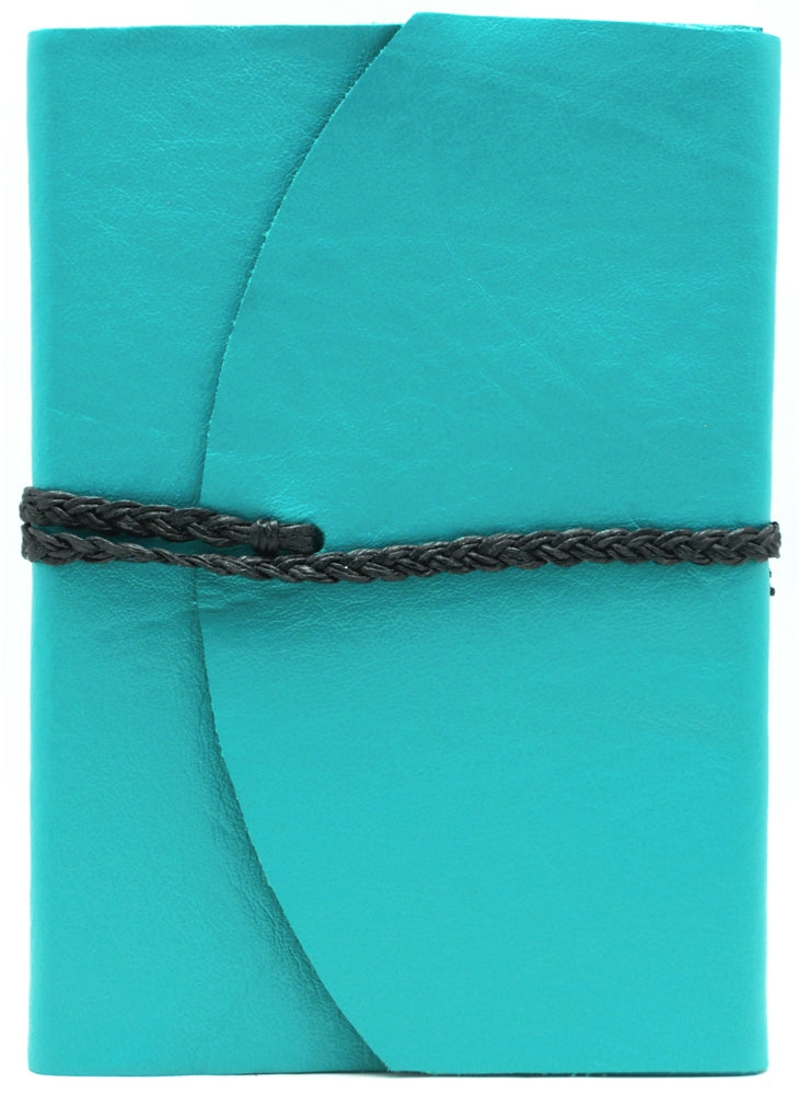 Curnow Bookbinding Wrap-around Turquoise Leather Journal