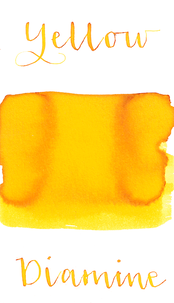 Diamine Yellow is a bright summer yellow fountain pen ink.