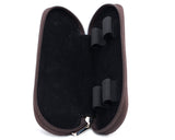 Girologio Zippered 2 Pen Case Dark Brown