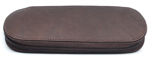 Giro Logio Zippered 2 Pen Case Dark Brown