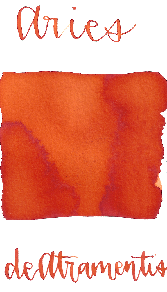 DeAtramentis Zodiac Aries, Red Orange