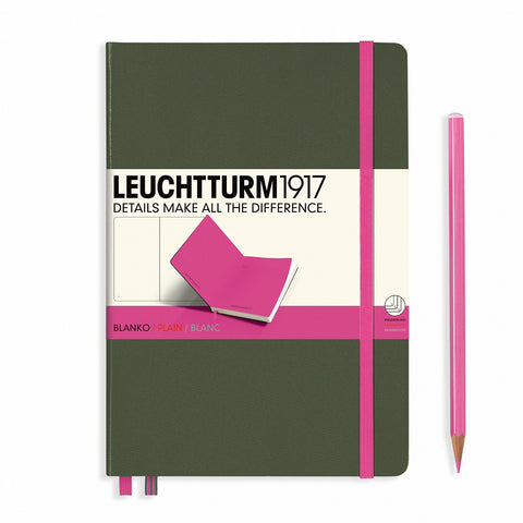 Leuchtturm1917 A5 BiColore - Army/New Pink