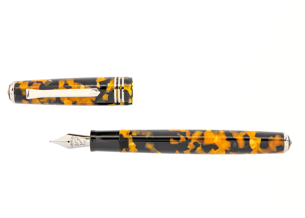 Tibaldi N60 Amber Yellow Resin Fountain Pen