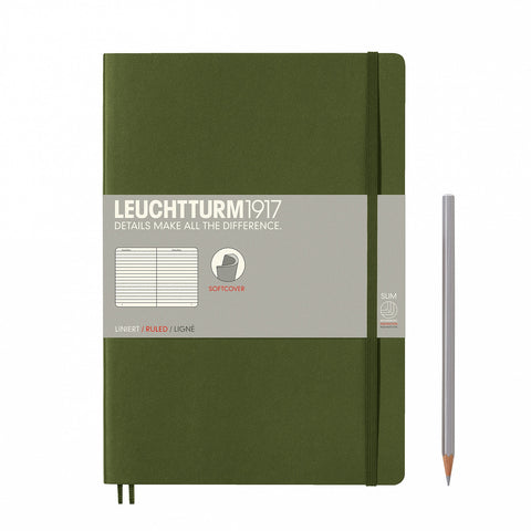 Leuchtturm1917 B5 Composition Notebook - Army