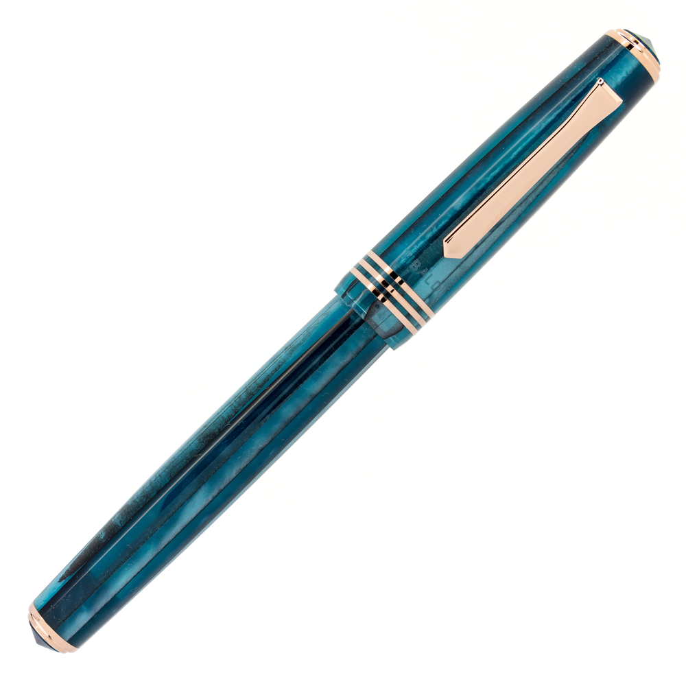 Tibaldi N60 Bora Bora Resin with Rose Gold Trim Limited Edition Rollerball Pen