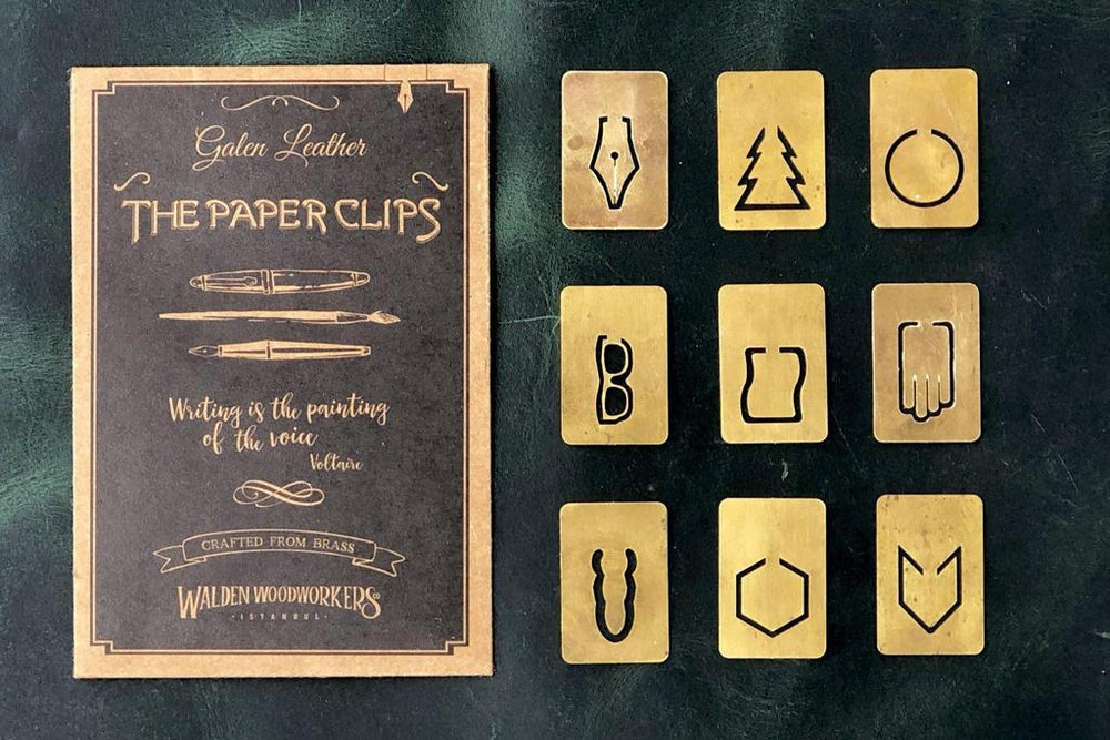 Galen Leather Co. Brass Paper Clip Set