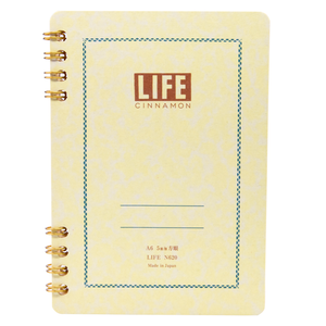 Life Stationery Cinnamon Note A6 Side Ring-Bound Notebook