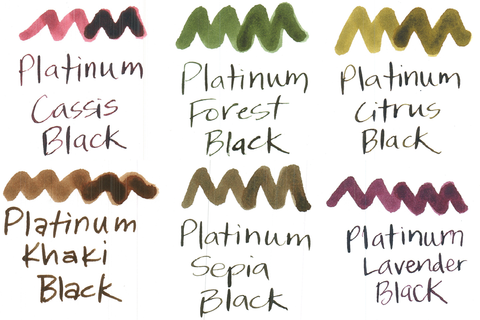 Platinum Classic Ink sample pack