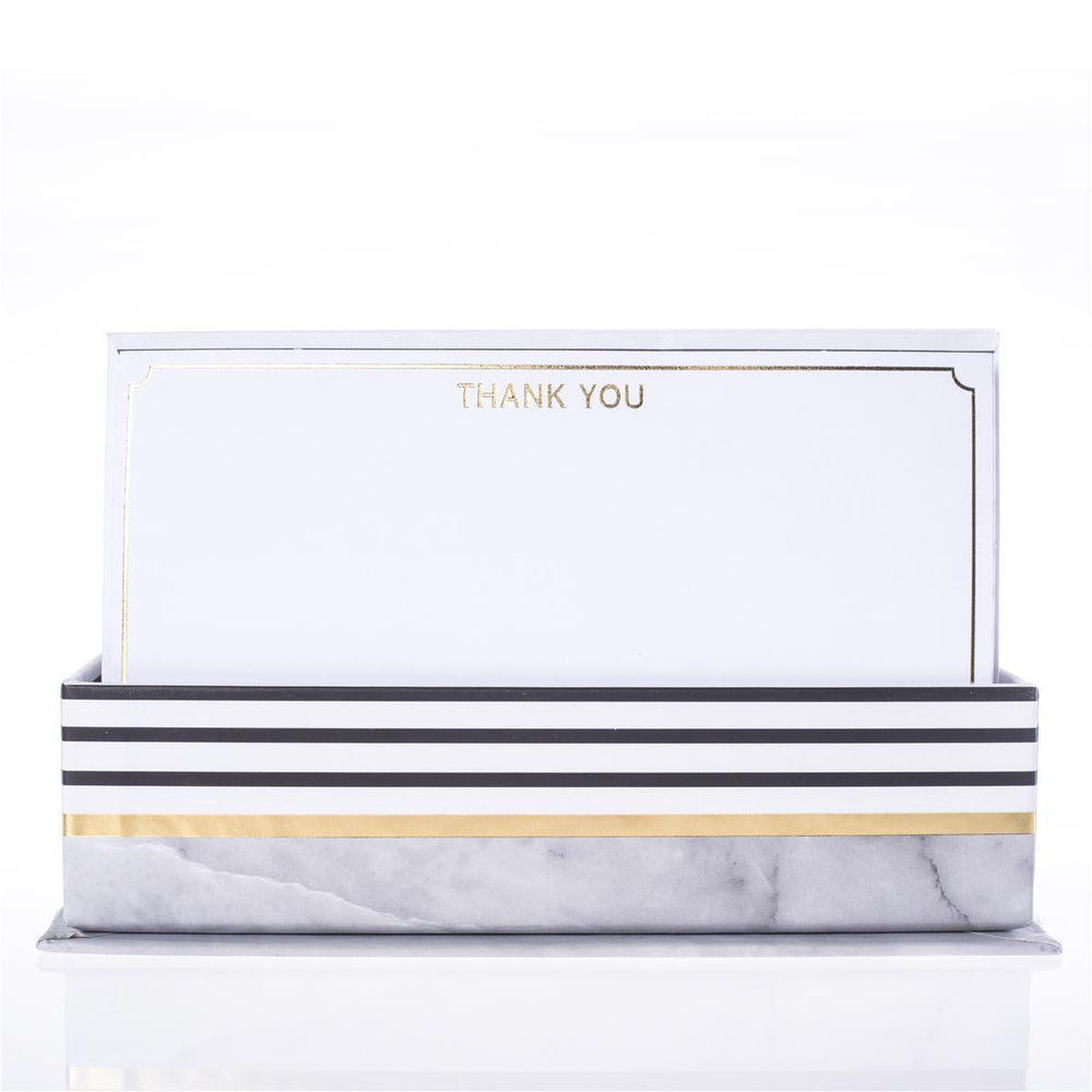 "Graphique Grey Granite ""Thank You"" Note Card Set"